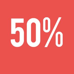50 % de votre forfait déduit